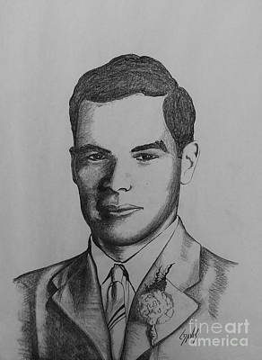 Drawing - Dad In 1943 by Lew Davis