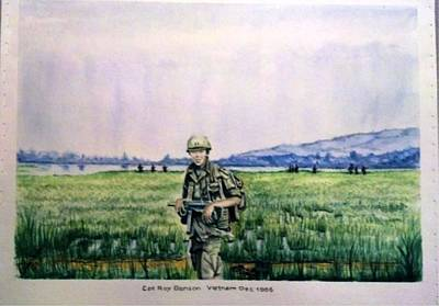 Dad In Viet Nam Sold Art Print by Richard Benson