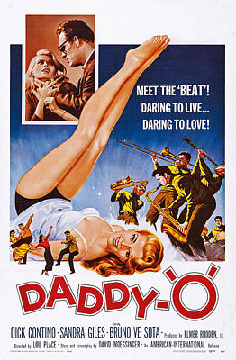 1959 Movies Photograph - Daddy-o, Us Poster Art, 1959 by Everett