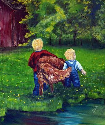 Daddy's Boys Art Print