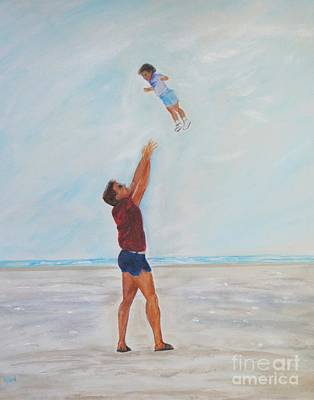 Painting - Daddy's Little Girl by Leslie Allen