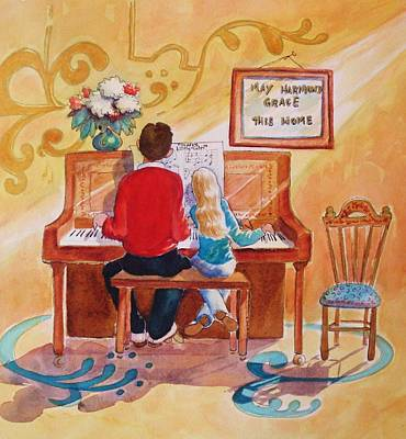 Daddy's Little Girl Art Print by Marilyn Jacobson