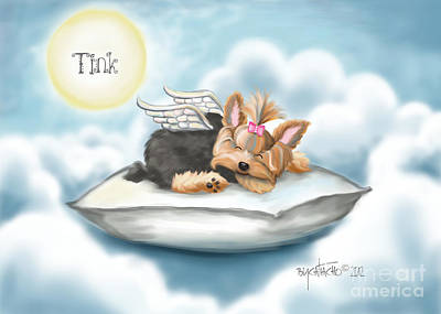 Daddy's Pillow In Heaven Art Print by Catia Cho