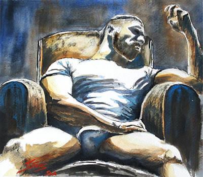 Daddys Time Art Print by Michel Jutras