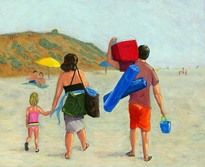 Folding Chair Painting - Dad's Day Off by Karyn Robinson