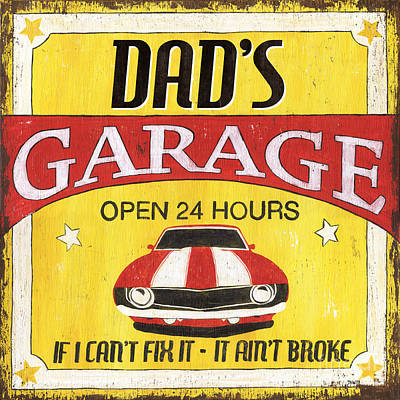 Vintage Cars Painting - Dad's Garage by Debbie DeWitt