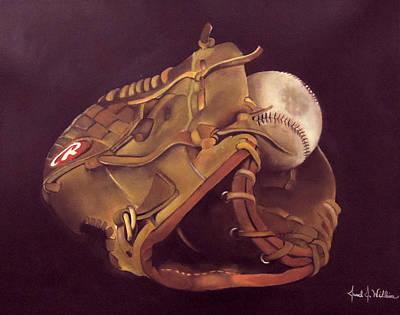 Dads Glove Art Print by Jared Wilkins