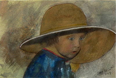 Painting - Dad's Hat by John Brisson