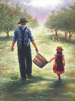 Father Painting - Dads Helper by Vickie Wade