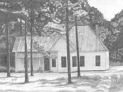 Drawing - Dad's Homeplace by Lew Davis