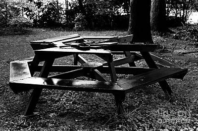 Photograph - Dad's Picnic Table by Tom Brickhouse