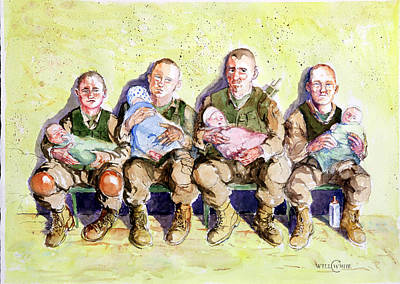 Iraq Painting - Dads by Will White
