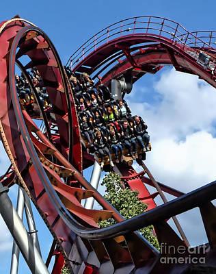 Daemonen - The Demon Rollercoaster - Tivoli Gardens - Copenhagen Art Print