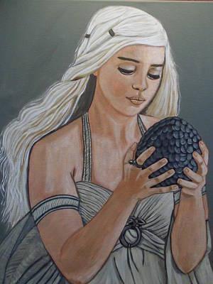 Daenerys Dragon Queen Art Print by Tammy Rekito