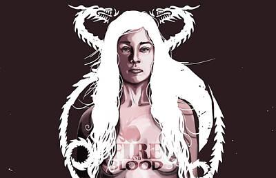 Daenerys Art Print by Jeremy Scott