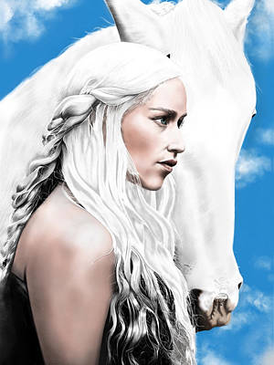 Fire And Ice Painting - Daenerys Targaryen by Andrew Harrison