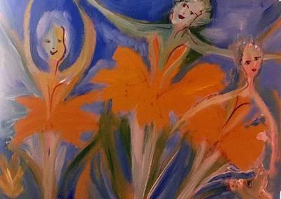 Daffodil Ballet Art Print by Judith Desrosiers