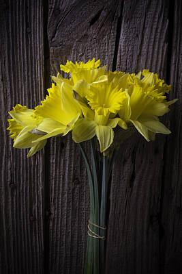 Daffodils Photograph - Daffodil Bunch by Garry Gay