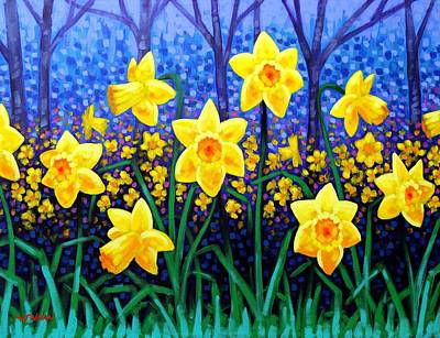 Homage Painting - Daffodil Dance by John  Nolan