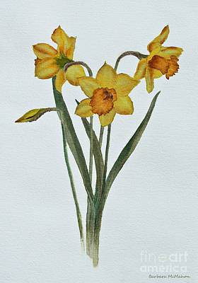 Daffodils Painting - Daffodil Delight by Barbara McMahon