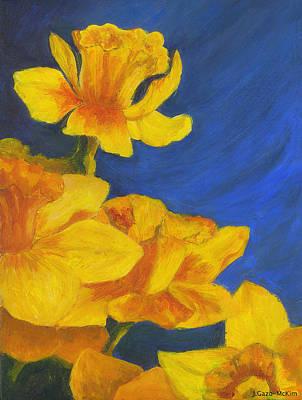 Daffodils Painting - Daffodil Delight by Jo-Anne Gazo-McKim