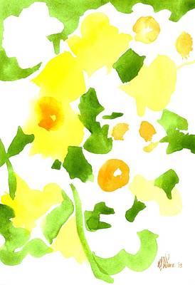 Daffodil Impressions Art Print