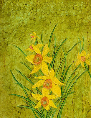 Painting - Daffodil by Laurie Williams