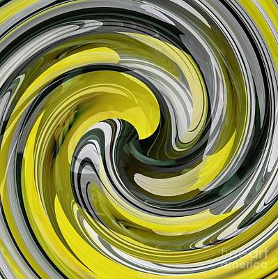 Digital Art - Daffodil Swirl by Sarah Loft