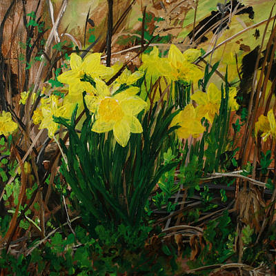 Painting - Daffodil Thrill by Julianne Hunter
