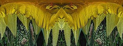 Stamen Digital Art - Daffodil Unleashed 2 by Tim Allen