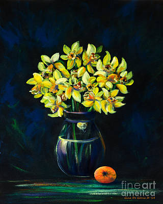 Painting - Daffodils And Fruit by Gina De Gorna