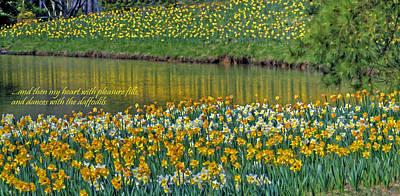 Photograph - Daffodils And Wordsworth by Jerry Gammon