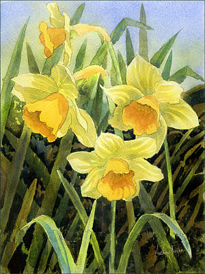 Daffodils Painting - Daffodils by Anthony Forster