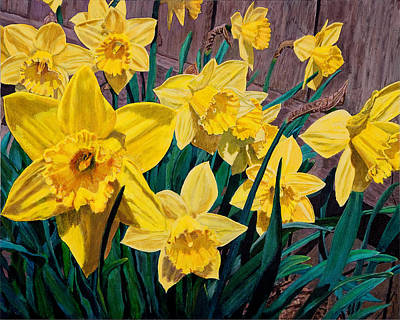 Painting - Daffodils by Charlie Harris