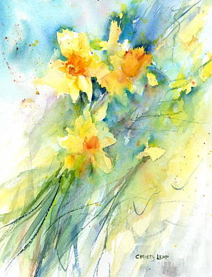 Painting - Daffodils by Christy Lemp