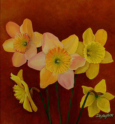 Painting - Daffodils by Deyana Deco