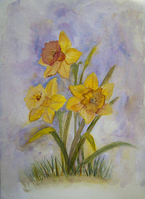 Daffodils Painting - Daffodils by Donna Walsh
