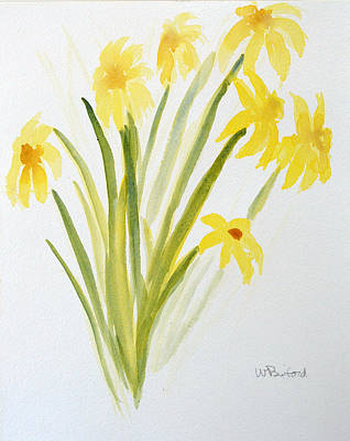 Daffodils For Mothers Day Art Print by Wade Binford