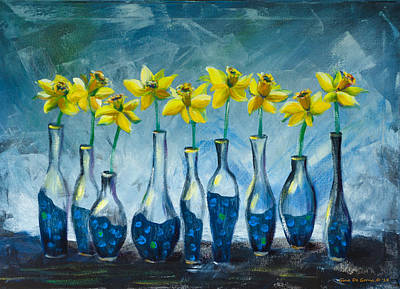 Painting - Daffodils by Gina De Gorna