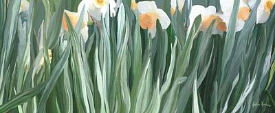 Daffodils In The Midst Art Print by Kristie Mercer