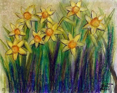Daffodils Art Print by Kenny Henson