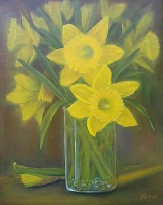 Painting - Daffodils  by Mishel Vanderten