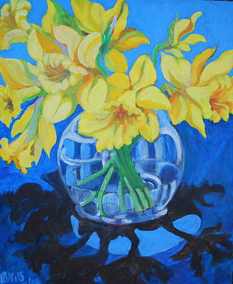 Painting - Daffodils by Rufus Norman