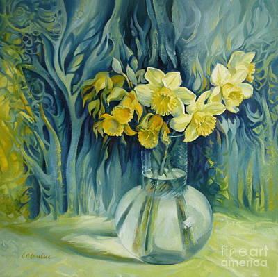Daffodils Painting - Daffodils Season by Elena Oleniuc