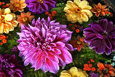Photograph - Dahlia Delight by Byron Varvarigos