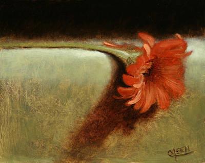 Dahlia Flower Art Print by Christy Olsen