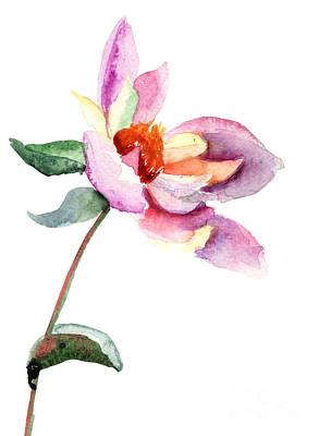 Invitations Painting - Dahlia Flower by Regina Jershova