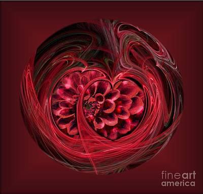 Apophysis Photograph - Dahlia Heart by Shirley Mangini