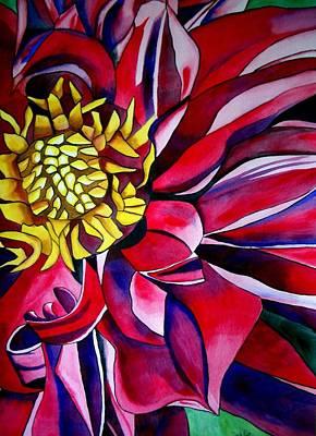 Dahlia In Macro Style Art Print by Sacha Grossel