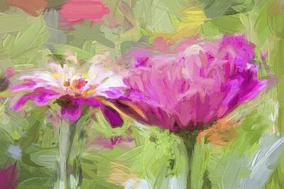 Photograph - Dahlia Pinks by Alice Gipson
